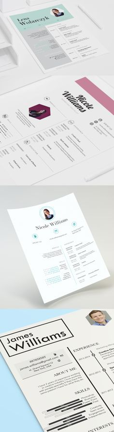 Creative resume design by CVdesign