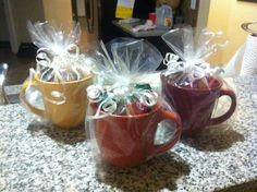 Coffee mug gift idea.  Great for co-workers, teachers, friends, or as a door prize or shower favors or prizes