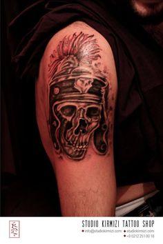 skull tattoo #skull #skulltattoo #dovme #kurukafa Black White Tattoos, Skull, Black And White, Black N White, Black White, Skulls, Sugar Skull