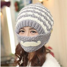 1dd9051e3d46e Hot Sale Fashion Warm Female Beanies Cap Brand Unique Design Knitted Hat For  Christmas Gift