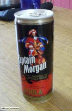 Captain Morgan and cola in a can