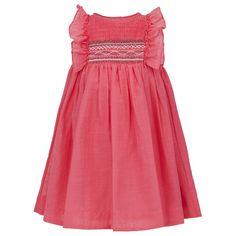 Tartine et Chocolat Pink Cotton Smock Dress