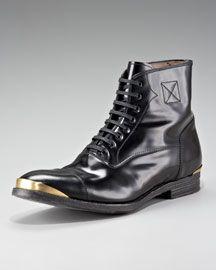 Alexander McQueen Metal-Toe Boot $875
