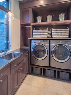 Gorgeous contemporary laundry room