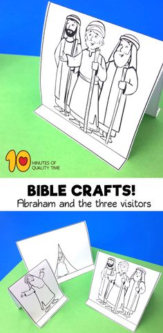 Abraham and the Three Visitors Preschool Bible Lessons, Bible Activities For Kids, Sunday School Activities, Sunday School Crafts, Bible For Kids, Fun Activities, Abraham Bible Crafts, Story Of Abraham, Genesis Bible
