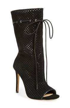 Steve Madden Forsaken Perforated Peep Toe Boot Women Available At Nordstrom