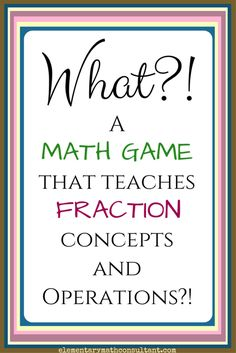 4th grade 5th grade fractions math game