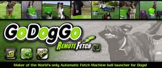 GoDogGo Inc. is the inventor, patent holder and manufacturer of the world's first dog Fetch Machine and remote controlled automatic ball launcher for dogs. Celebrating 10 years with the third generation GoDogGo G3. The best dog toy for owners of fetch crazy ball dogs. GoDogGo, Inc. is a family owned and operated company that produces interactive fetch toys for your family pet.