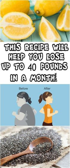 THIS RECIPE WILL HELP YOU LOSE UP TO 40 POUNDS IN A MONTH!
