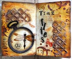 yaya scrap & more: SIMON SAYS: DUE DATE, with TUTORIAL! using Tim Holtz, Ranger, Idea-ology, Sixxiz and Stamper's Anonymous products; Apr 2015