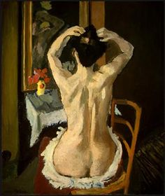 """Henri Matisse """"La Coiffure"""" Oil on canvas Matisse did an amazing job on showing the details in the body structure"""