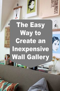 This is a great idea for creating an inexpensive gallery wall