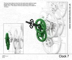 Home - Clever Wood Projects Wooden Clock Plans, Wooden Gear Clock, Wooden Gears, Wood Clocks, Woodworking Plans, Woodworking Projects, Simple Math, Kinetic Art, Clock Decor