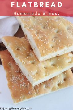 Here is the best and easiest Turkish flatbread recipe. This bread is fluffy and full of bubbles. It is made with a yeast dough, egg and olive oil, shaped to an about 1 inch thick round bread. Perfect to fill with meat, veggies, and sauce. Delicious for breakfast or as a side for dinner instead of dinner rolls.  #flatbreadrecipe #easybread #sidedish #breadrecipe #focacciabread