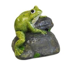 Croak Alert - Frog on Rock Let Freddy and his friends alert you when you have visitors