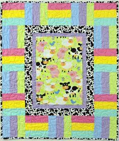 Pop Flannel Quilt Pattern BS2-394 (advanced beginner, baby)- Barb Sackel- $10.00