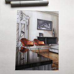 Buy Home Decorations Online Croquis Architecture, Interior Architecture Drawing, Interior Design Renderings, Drawing Interior, Interior Rendering, Interior Sketch, Architecture Design, Classical Architecture, Sketches Arquitectura