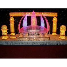 BARRE TRANSVERSALE ASSORTIE AU TRONE LOTUS Passion Decor, Javanese Wedding, Wedding Stage, Wedding Chairs, Lotus, Decoration, Birthday Candles, Snow Globes, Barre