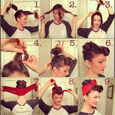 vintage or Lucille Ball updo hairstyle - too cute: