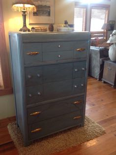 Refurbished ArT DeCo Waterfall DresSer....The JunK Station...check us out on FB!