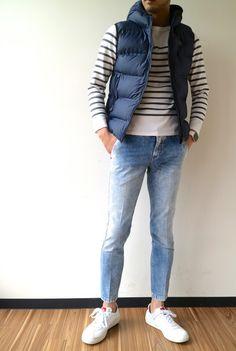 Young Adult Fashion, Teenage Boy Fashion, Modern Men Street Style, Mens Puffer Vest, Smart Casual Men, Stylish Mens Outfits, Vest Outfits, Mens Clothing Styles, Minimalist Fashion