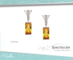 Aretes espectaculares con zirconias genuinas en una montura color plata brillante. www.lacoqueteria.co #earrings #aretes #accesories #beautiful #lacoqueteria  #fashion #shoppingonline #tiendaenlinea #mexico #accesorios