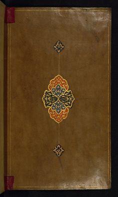 Album of Persian calligraphy, Doublure, Walters Manuscript W.673, Upper board…