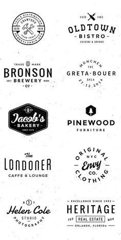 vintage logo Logo/Badge Templates on Behance Design Retro, Design Logo, Vintage Logo Design, Badge Design, Fashion Logo Design, Branding Design, Logo Branding, Clothing Logo Design, Logo Design Template