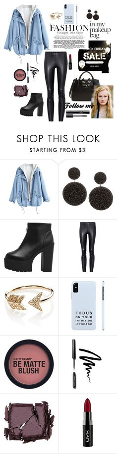 """sale"" by alleem ❤ liked on Polyvore featuring STOULS, EF Collection, Bobbi Brown Cosmetics, Surratt, NYX and Charlotte Olympia"