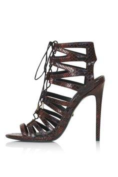 RUPA Snake-Effect Ghillie Sandals - Heels - Shoes - Topshop