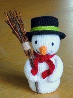 de Haakbaak: Cadeautje nummer 1: sneeuwpop patroon