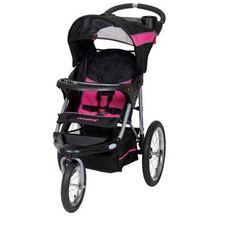 Jogger Stroller Bubble Gum Adjustable Reclining Padded Seat Storage Basket #BabyTrend