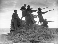 #OnThisDay in 1941 the Siege of Tobruk began. For eight months Australian and British soldiers – with Indian, Polish, and Czech troops – held Tobruk against besieging German and Italian forces. Total losses for the 9th Division AIF amounted to 832 killed, 2,177 wounded and 941 prisoners. #LestWeForget Image and information via Australian War Memorial