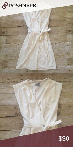 ASOS NWT Cream Wrap Dress Sleeveless wrap dress from Asos. NWT. Asos Dresses
