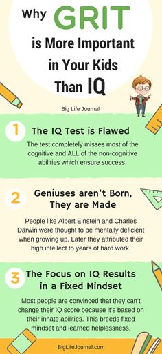 Why GRIT is more important in your kids than IQ (and how to teach it).