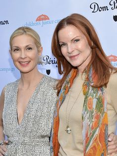 Kelly Rutherford and Marcia Cross attend the Children's Justice Campaign event on May 12 2015 in Beverly Hills California