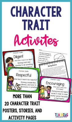 Looking for character building activities for your classroom? Use these activities to introduce your students to various character qualities and help build their character. There is a character trait included for each letter of the alphabet.For EACH character trait, you will receive the following: ★Character Trait Poster ★Original Character Trait Story ★Character Trait Activity Page– ★Character Trait Recognition Tags
