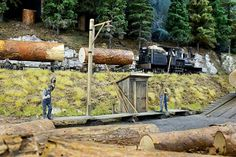 Diorama, Lumber Mill, Model Train Layouts, Models, Model Trains, Firewood, Scenery, Buildings, Crafts