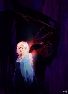 game of thrones - daenerys paintsketch by shorelle on @DeviantArt