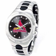 Game Time MLB Men's St. Louis Cardinals Victory Series Watch, Silver
