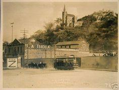 """Fabrica de Chocolates """" La India """" se localizaba en la Calle de la Estación de Caño Amarillo. 1920"""