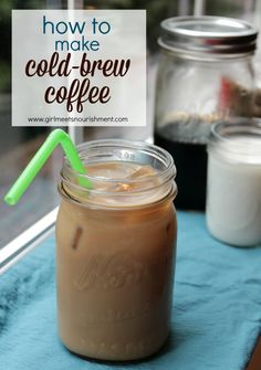 Love this recipe for cold-brewed coffee. It's so easy to make and so yummy!