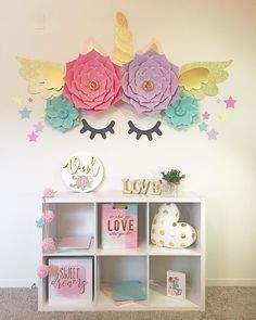 Decorating Ideas for Youngsters' Rooms - Discover our favored ideas for making a. Decorating Ideas for Youngsters' Rooms - Discover our favored ideas for making and also arranging a spirited, creative child's space. Unicorn Bedroom Decor, Unicorn Rooms, Unicorn Themed Room, Unicorn Party, Unicorn Decor, Unicorn Bedroom Accessories, Unicorn Wall Art, Kids Hair Accessories, Unicorn Birthday