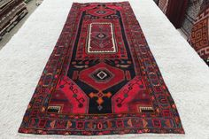 Persian Hand Knotted Hamedan Runner Size 273x120cm