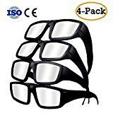 #10: Solar Eclipse Glasses  2017 Safety Plastic Goggles with CE and ISO Certified for Direct Sun Viewing Eye Protection  Block Sun Ultraviolet UV Lights (4 Pack)