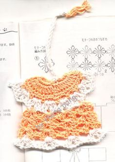 Mini Dress Bookmark by Thata Pang - free crochet pattern at ravelry!! How adorable is this??
