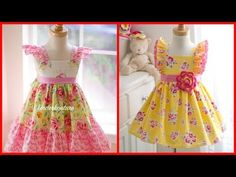 Best Ideas For Sewing Clothes For Girls Kids Girl Top Dress, Baby Girl Dress Design, The Dress, Girls Dresses Sewing, Sewing Kids Clothes, Baby Dresses, Cotton Frocks For Kids, Frocks For Girls, Frock Patterns