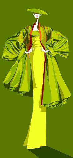 Magali Barbe, John Galliano inspired
