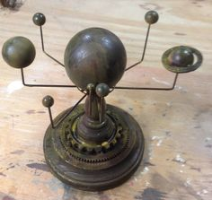 Desk Top Steampunk Inspired Solar Orrery from The Fyfe Atelier | eBay