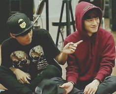 EXO Kai and Chen in EXO SHOWTIME ahh so adorableee. love them both<3 #jongin #jongdae